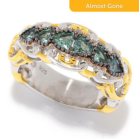 e80e5ffdd 181-736- Gems en Vogue Trillion Shaped Alexandrite 6-Stone Band Ring