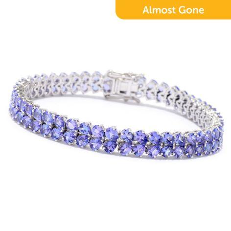 Gem Treasures®, 14K White Gold, Choice of Length, Tanzanite 2-Row, Tennis  Bracelet