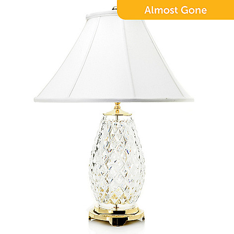 waterford crystal diama 28 table lamp w linen shade evine