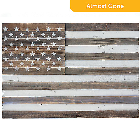 473 553 Donny Osmond Home 315 Distressed Wooden American Flag Wall Decor