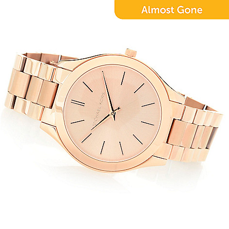 c40de1fb902d 630-588- Michael Kors Women s Slim Runway Quartz Stainless Steel Bracelet  Watch