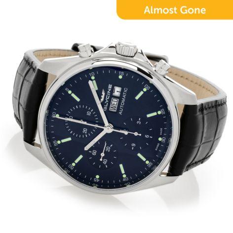 Glycine Men S 42mm Combat Classic Swiss Made Automatic Chronograph Watch