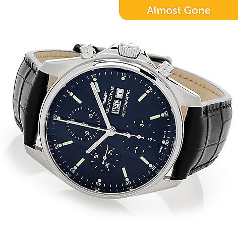 7b7a2d094 646-005- Glycine Men's 42mm Combat Classic Swiss Made Automatic Chronograph  Watch