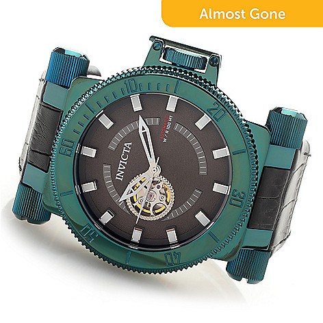 afff8db5f09 649-466- Invicta Men s 51mm Coalition Force Automatic Open Heart Leather  Strap Watch