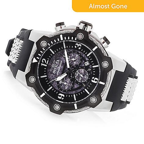 invicta men s 50mm bolt quartz chronograph silicone strap watch evine