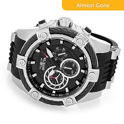 invicta men s 53mm bolt quartz chronograph silicone strap watch evine