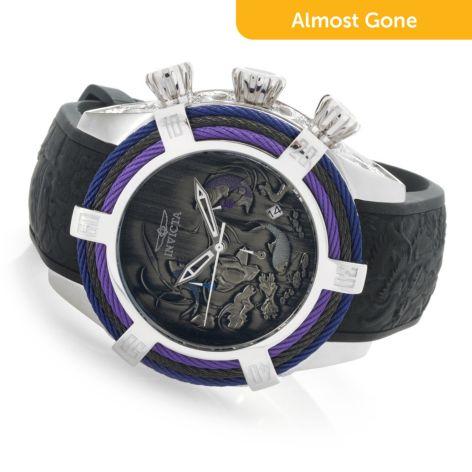 Invicta Men's 54mm Bolt Tri-Cable Koi, Quartz Chronograph Silicone Strap  Watch
