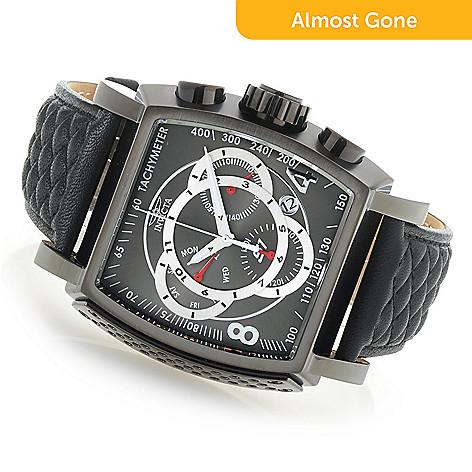 dfac23786 659-228- Invicta Tonneau S1 Rally Quartz Chronograph Leather Strap Watch
