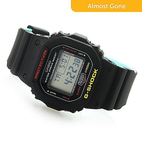 8462e8a946ed Casio 34mm Rectangular G-Shock Breezy Rasta Quartz Digital Resin Strap Watch