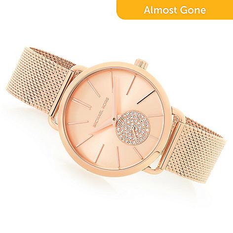 56126f171949 662-363- Michael Kors Women s Portia Quartz Crystal Accented Bracelet Watch