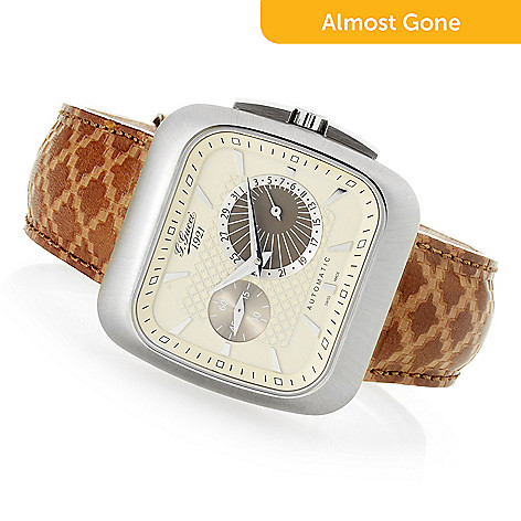 4fe4cdc09be 663-849- Gucci Men s 40mm Coupe Swiss Made Automatic Sapphire Crystal Leather  Strap Watch