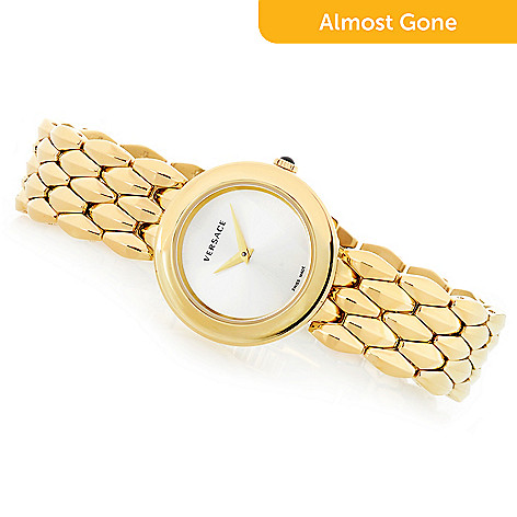 6252b33c4a2790 666-610- Versace Women's V-Flare Swiss Made Quartz Sapphire Crystal  Bracelet Watch