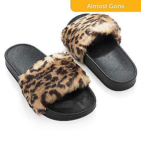 d91cd924dde8 738-133- Donna Salyers  Fabulous-Furs Faux Fur Slide-on Sandals