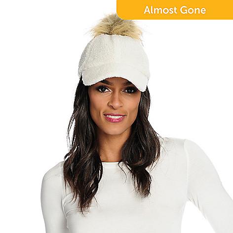 52be521fc7 738-197- Donna Salyer s Fabulous-Furs Faux Fur Pom Pom Baseball Hat