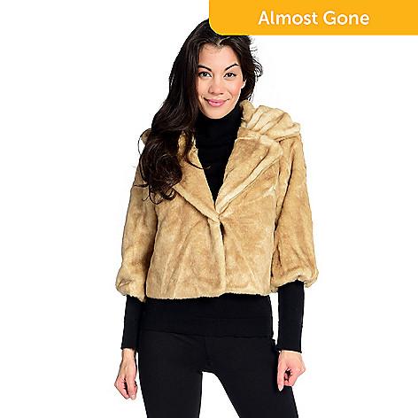 0934e20910c47 Donna Salyers  Fabulous-Furs Faux Fur 2-Pocket 3 4 Sleeve Vintage ...