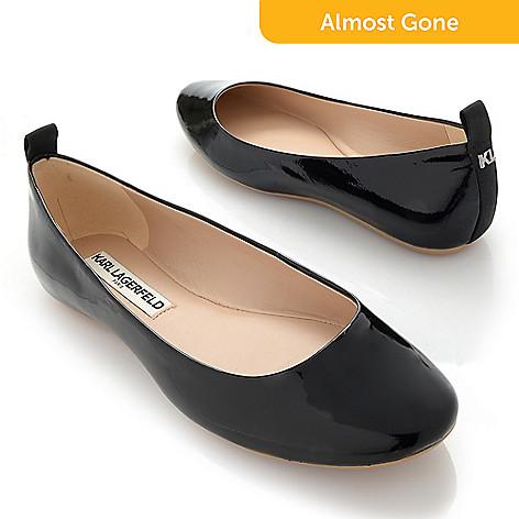 c40490775 742-787- Karl Lagerfeld Leather Slip-on Ballet Flats