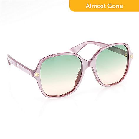178928f89 744-240- Gucci 55mm Marbleized Round Frame Oversized Sunglasses w/ Case