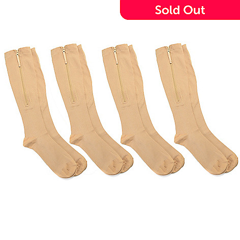 f785576ffd 001-510- Zip Sox Four Pairs of Nylon Zip-up Compression Socks