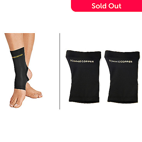 8d5ef95e1662c9 001-793- Tommie Copper Pair of Core Copper-Infused Compression Ankle Sleeves