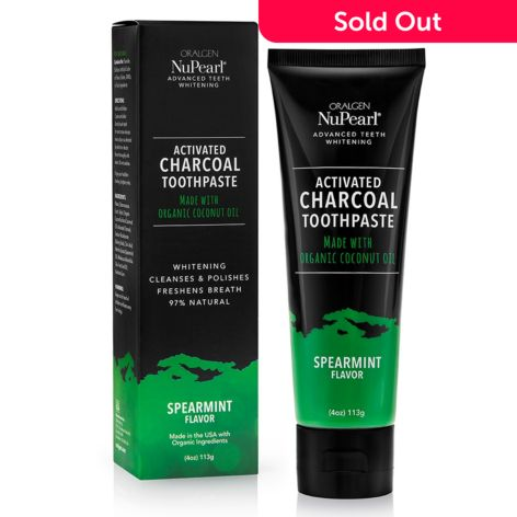 Oralgen Nupearl Choice Of Single Or Duo Activated Charcoal Teeth