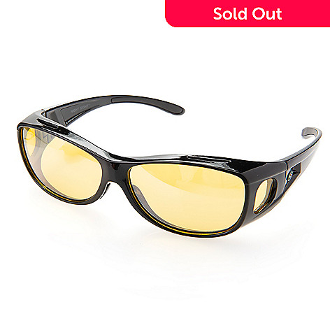 8af738cba9 002-124- Night Sight Deluxe Unisex 68mm Polarized Night Driving Glasses w   Case