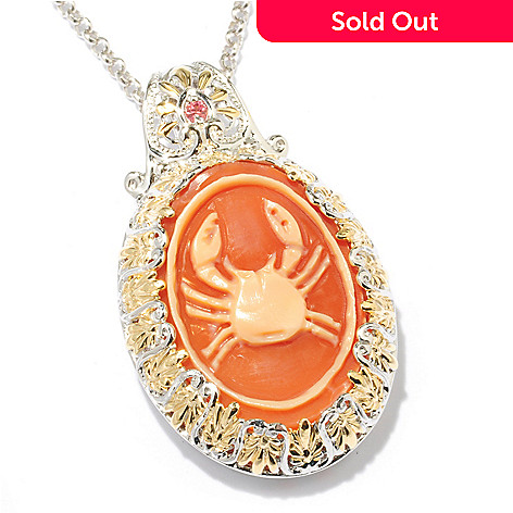 Gems en vogue italian carved zodiac cameo orange sapphire pendant 116 855 gems en vogue italian carved zodiac cameo orange sapphire pendant aloadofball Image collections
