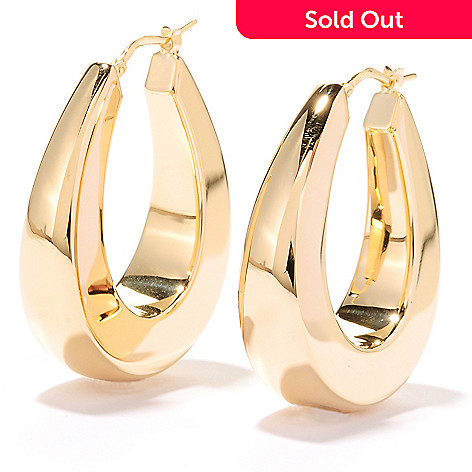 125 316 Portofino 18k Gold Embraced 1 25 Polished Horseshoe Hoop Earrings
