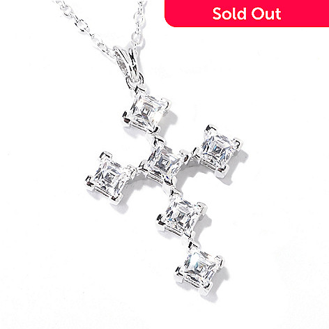 c9e0f98a0 125-699- TYCOON for Brilliante® Platinum Embraced™ 2.36 DEW Cross Pendant w