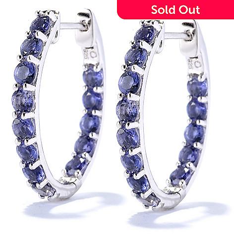 126 116 Nyc Ii Gemstone Inside Out Hoop Earrings