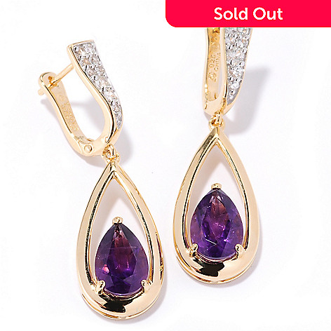 126 678 Omar Torres 3 65ctw Gemstone White Shire Raindrop Earrings