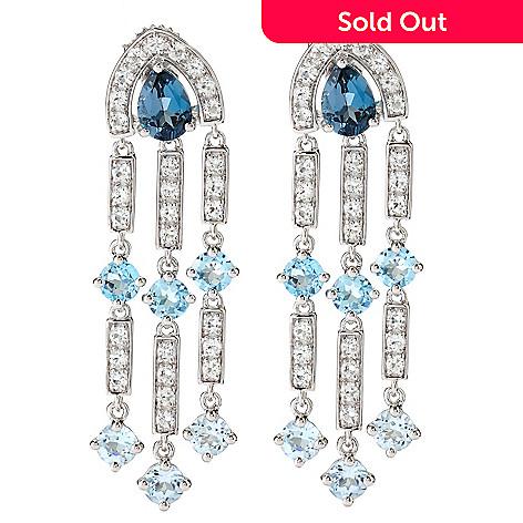 Omar torres 812ctw white blue topaz chandelier earrings 126 682 omar torres 812ctw white blue topaz chandelier earrings aloadofball Image collections