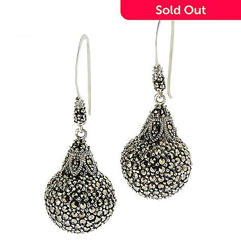 eef4db95ae863 Dallas Prince Pave Ball Drop Earrings Made w/ Swarovski® Marcasite