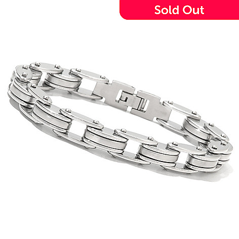 49aef69d5b22e 131-795- Steel Impact™ Men's Stainless Steel Bicycle Chain Link Bracelet