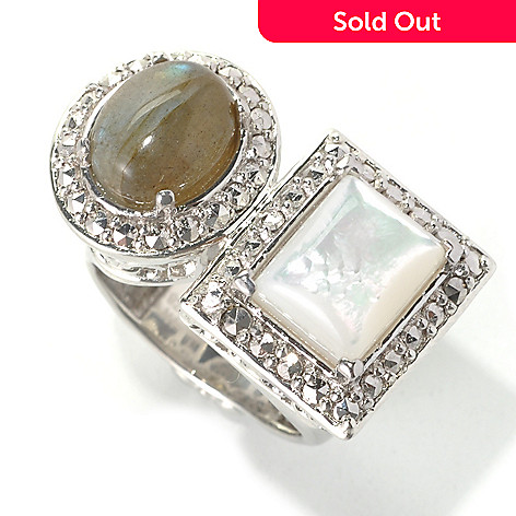 Dallas Prince Designs Sterling Silver Framed Wrap Ring Made w ...