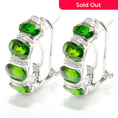 132 428 Nyc Ii 4 23ctw Chrome Diopside White Zircon Earrings W