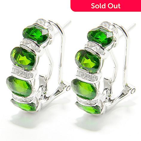 132 428 Nyc Ii 4 23ctw Chrome Diopside White Zircon Earrings W