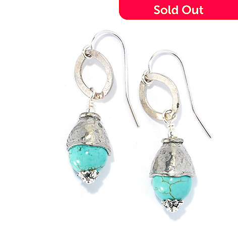 132 542 Mariechavez 1 5 Ced Turquoise Ball Drop Earrings