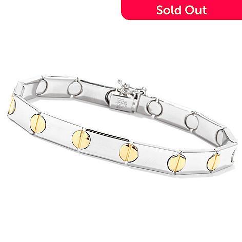 132 907 Palatino Platinum Embraced Men S Two Tone Nail Head Bracelet