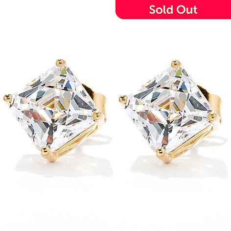 cd249f809 133-628- TYCOON 3.96 DEW Royal TYCOON CUT Simulated Diamond Stud Earrings