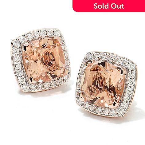 212a4f7c7 133-690- Brilliante® Gold Embraced™ Cushion Cut Simulated Gemstone Halo Stud  Earrings