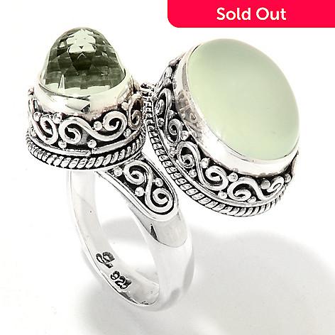 3105e786eda96 Artisan Silver by Samuel B. Chalcedony & Amethyst Swirl Bypass Ring