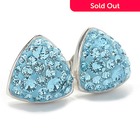 40a9a6299 133-930- Adaire™ Sterling Silver Triangle Stud Earrings Made w/ Swarovski®