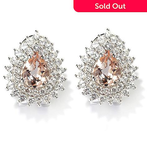134 087 Gem Treasures 14k White Gold 3 58ctw Pear Cut Morganite