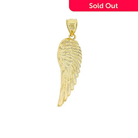 Charm america 14k gold angel wing pendant evine 135 148 charm america 14k gold angel wing pendant aloadofball Choice Image