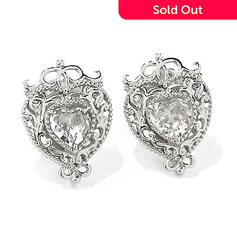 135 473 Dallas Prince Sterling Silver White Topaz Filigree Halo Stud Earrings