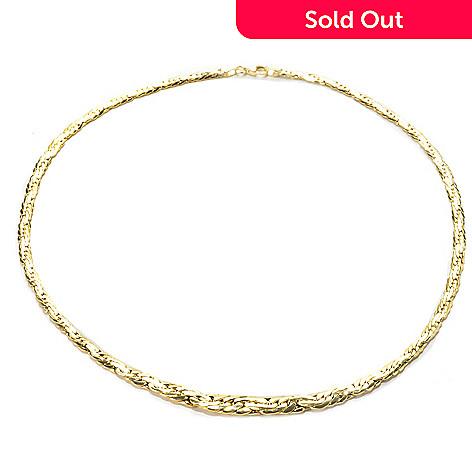 135 549 Stefano Oro 14k Gold 18 Graduated Spirali Necklace 5 Grams