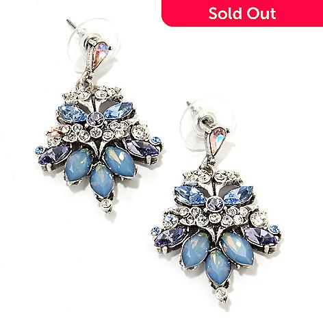 135 810 Sweet Romance 1 5 Multi Crystal Vintage Style Drop Earrings