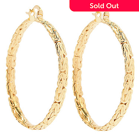 137 589 Antalia Turkish Jewelry 18k Gold Embraced 1 75 Byzantine Hoop
