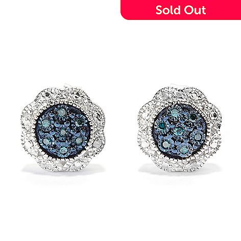45d197bf1 140-644- Diamond Treasures® Sterling Silver 0.08ctw Fancy Color Diamond  Stud Earrings