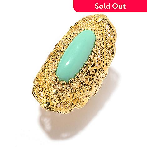 Relatively Antalia™ Turkish Jewelry 18K Gold Embraced™ 22 x 8mm Gemstone  SU54